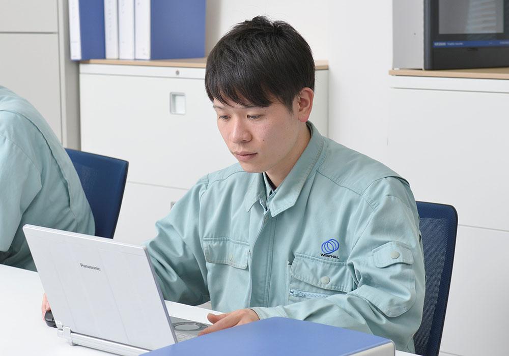 設楽 右京(2014年入社)技術工事課、1週間の仕事の流れ